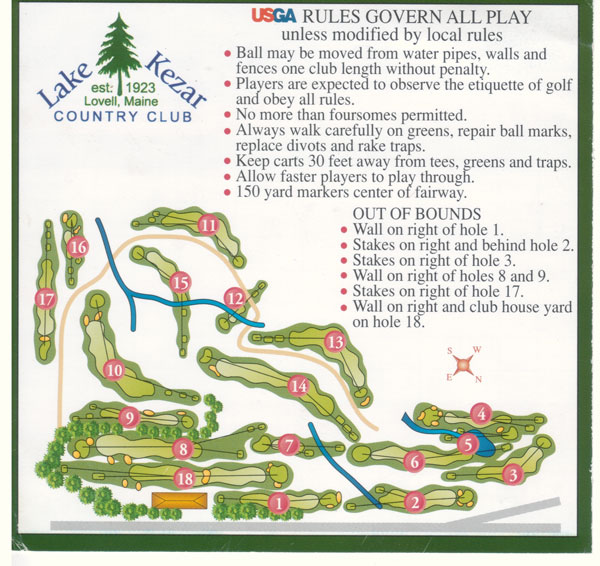 Lake Kezar Country Club Layout
